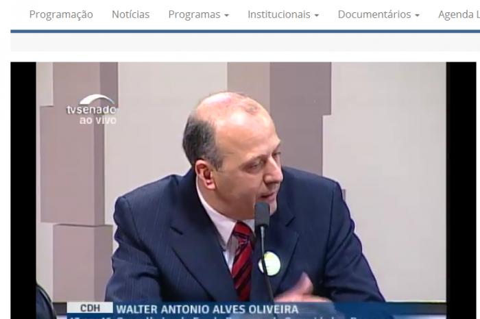 Vídeo da Audiência Pública sobre Plano II disponível no site da TV Senado