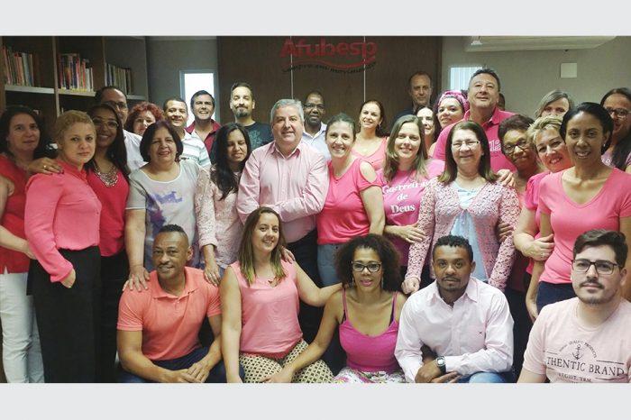 Afubesp se veste de rosa para marcar o dia de luta contra câncer de mama