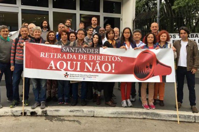 Santander é, mais uma vez, alvo de protestos em todo o país contra medidas arbitrárias