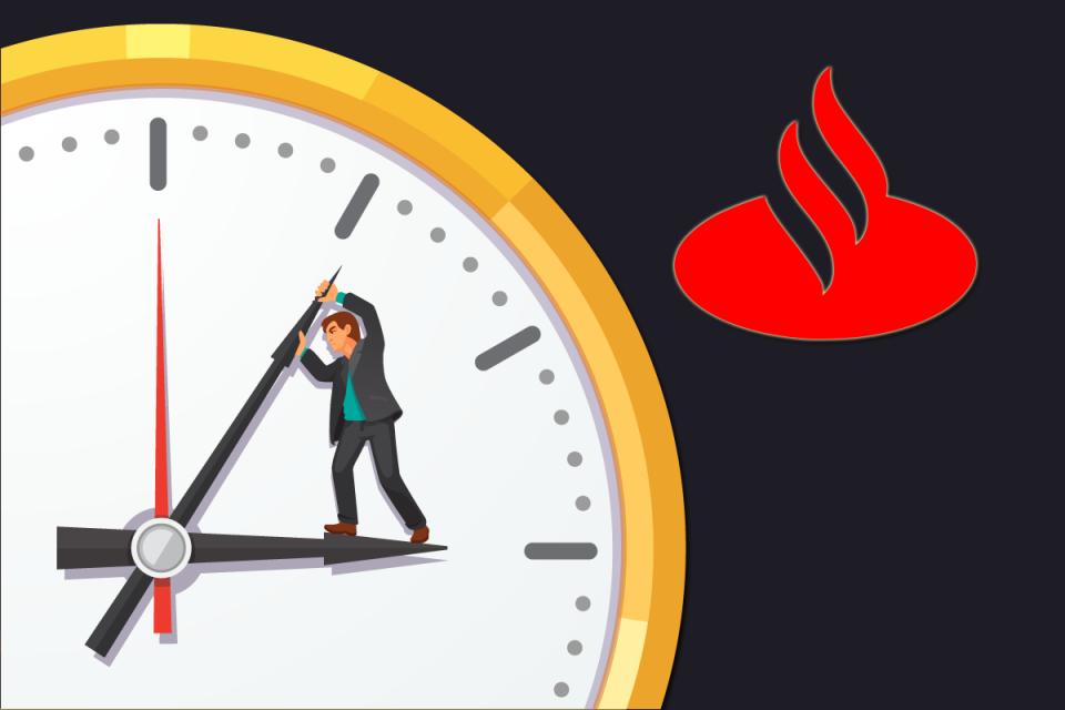 Direção do Santander força trabalho além da jornada regular