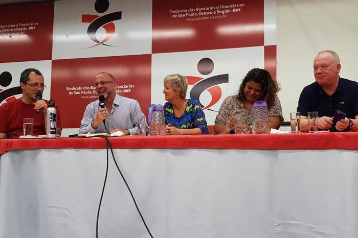 Stephen Lerner participa de debate sobre sindicalismo no Seeb-SP