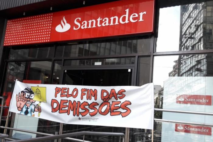 Protestos da última sexta abrangem 9 mil bancários do Santander