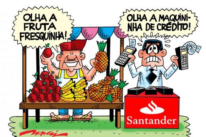 Gerentes do Santander têm que vender até em feiras livres