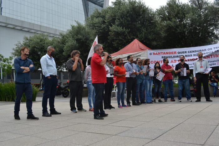 Atos denunciam tentativa do Santander de censurar os trabalhadores