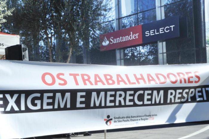 Dirigentes sindicais cobram respostas do Santander