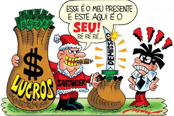 No Santander, o presente de Natal é a demissão