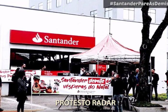 #SantanderPareAsDemissões: Relembre em vídeo protestos nas agências