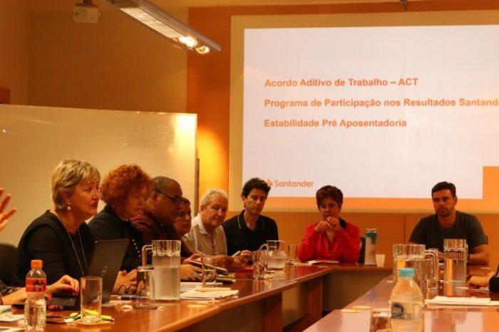 Santander: Em reunião sobre acordo aditivo, representantes cobram desoneração para os funcionários