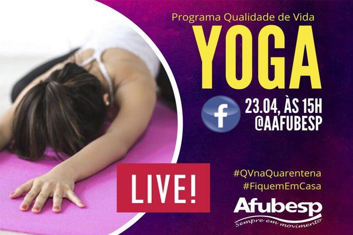 Movimente sua quarentena! Live de Yoga do Qualidade de Vida é na quinta (23)