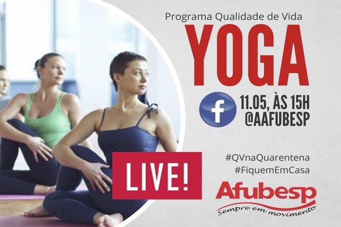 #QVnaQuarentena | Live de Yoga acontece na próxima segunda (11)