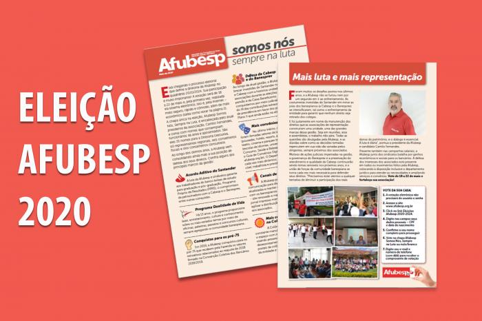 """Confira o jornal da chapa única """"Afubesp Somos Nós""""; Eleição ocorre de 18 a 22 de maio via internet"""