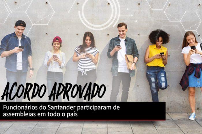 Bancários do Santander aprovam acordos com o banco