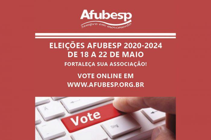 Hora de participar das Eleições da Afubesp; votação vai de 18 a 22 de maio pelo site!