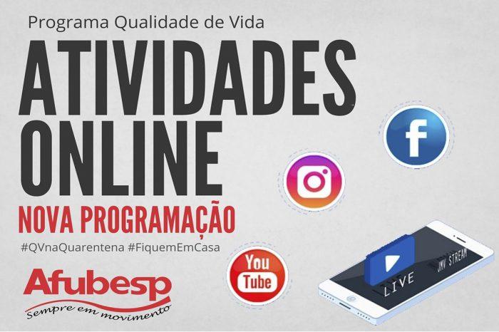 #QVnaQuarentena | Atividades online continuam no mês de maio