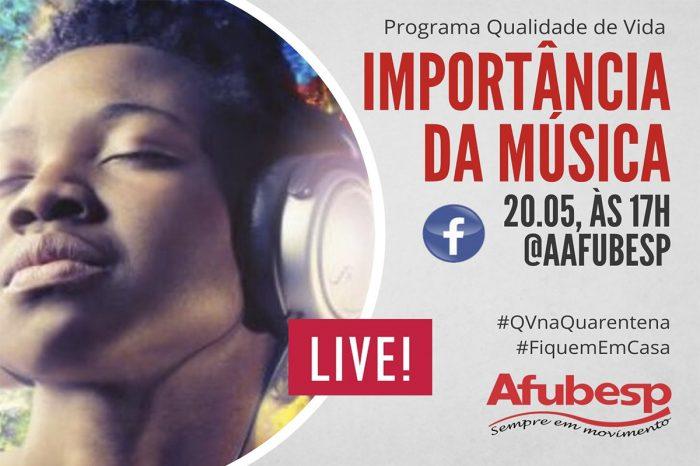 #QVNaQuarentena | Importância da música na vida das pessoas é tema de próxima live