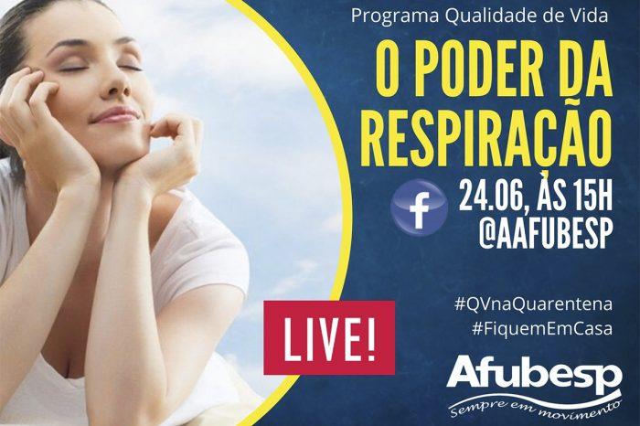 #QVnaQuarentena - 'O poder da respiração' é tema de live