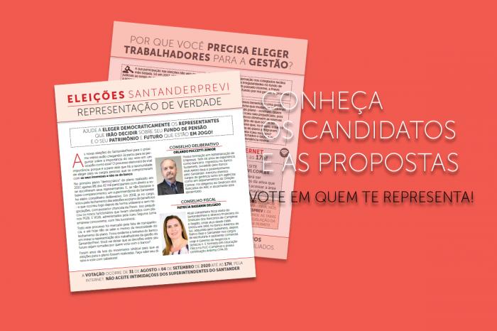 SantanderPrevi: Confira o jornal de campanha da chapa Representação de Verdade