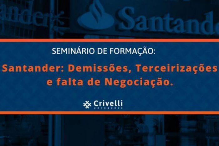 Seminário discute problemas no Santander