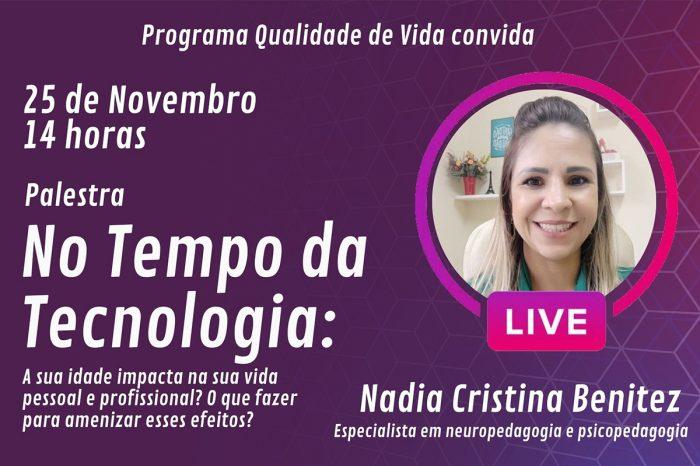 Palestra sobre efeitos da tecnologia encerra programação digital do Qualidade de Vida