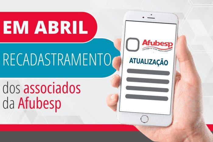 Afubesp realiza recadastramento dos associados em abril