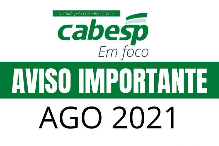 Aviso Importante – AGO Cabesp 2021