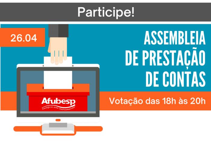 Assembleia de prestação de contas da Afubesp acontece hoje (26) pela internet; Participe!