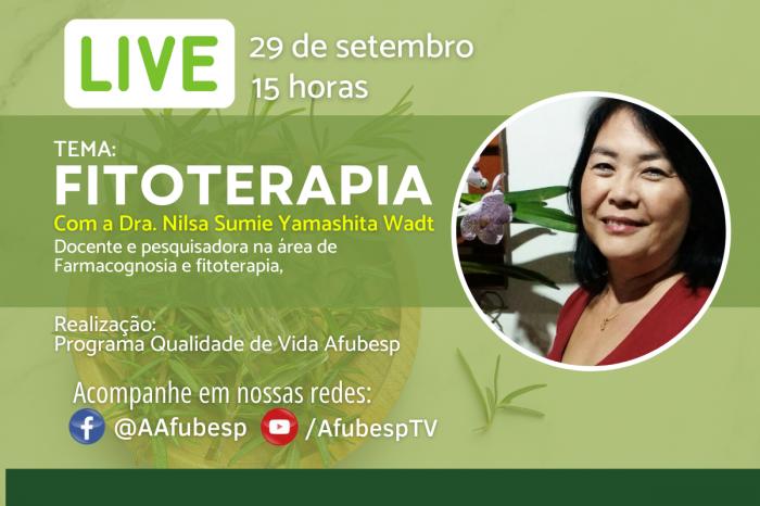#QVnaQuarentena - Fitoterapia é tema da atividade do mês de setembro